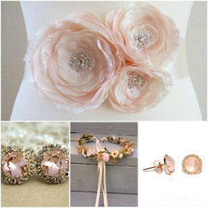 Rose Quartz Wedding Accessories