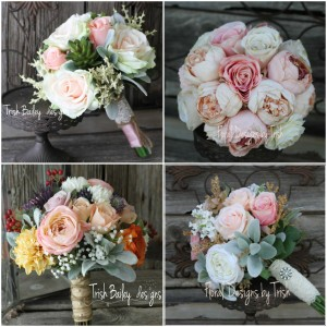 Rose Quartz Wedding Bouquets