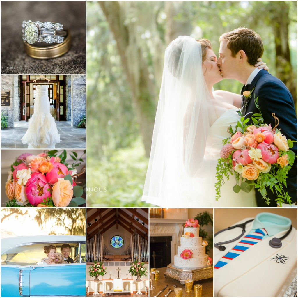 St. Simons Island Wedding Collage
