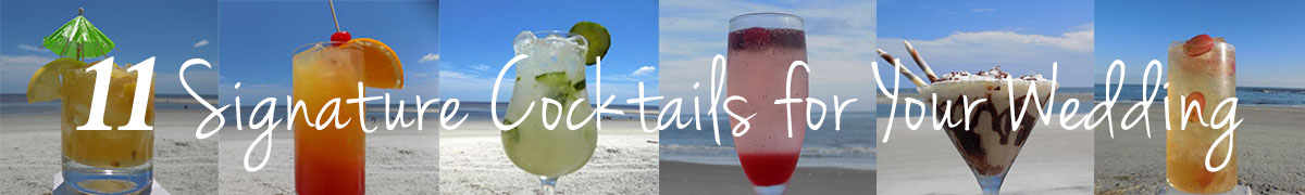 11 Signature cocktails for your wedding
