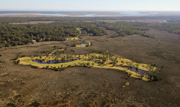 Aerial photograph of The Hampton Club Golf Course, St. Simons Island, GA