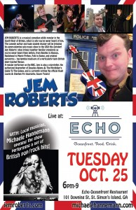 Jem Roberts at ECHO Restaurant