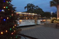Christmas light tours on St. Simons Island