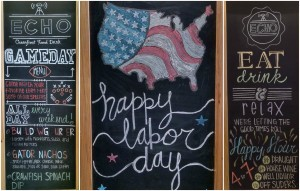 Labor Day Menu Art