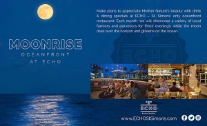Moonrise at ECHO Restaurant