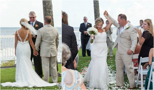 Bride and Groom Oceanfront Lawn