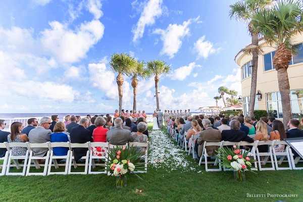 Oceanfront Lawn Wedding Ceremony