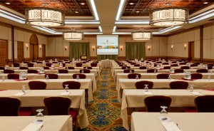 Lanier Ballroom Full Classroom Setup.  The King and Prince Beach & Golf Resort.  St. Simons Island, GA  31522.  912-638-3631.