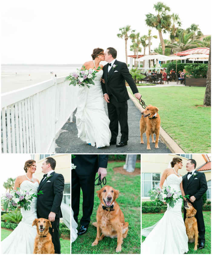 St Simons Island Wedding photo ideas with dogs