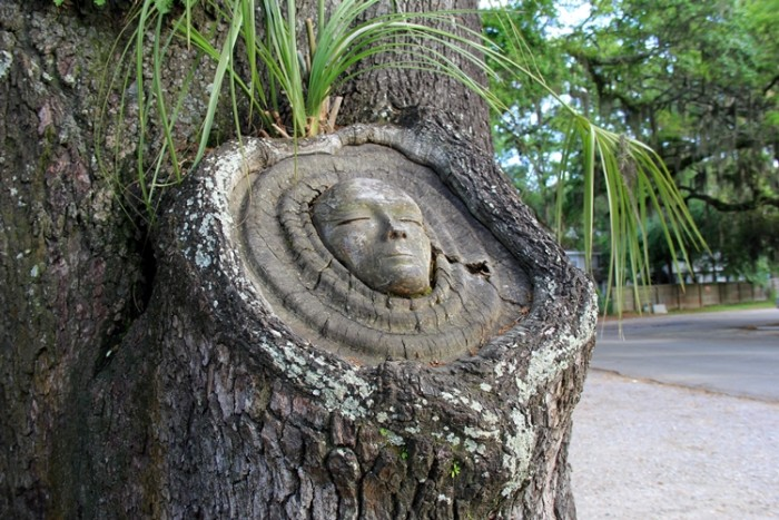 Tree Spirits on St. Simons Island, Georgia.