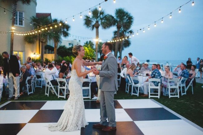 Outdoor Wedding Reception Dance Floor