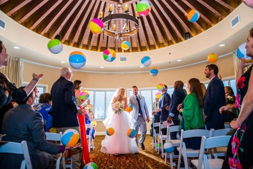 Beach Balls at Wedding Ceremony