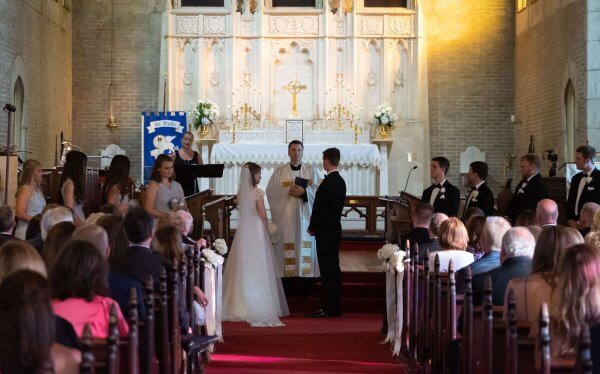 Ceremony at St. Mark's Episcopal Church