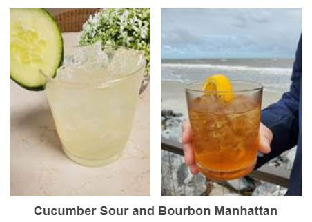 Cucumber Sour and Bourbon Manhattan