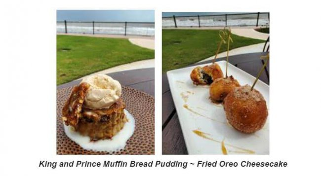King and Prince Muffin Bread Pudding and Fried Oreo Cheesecake