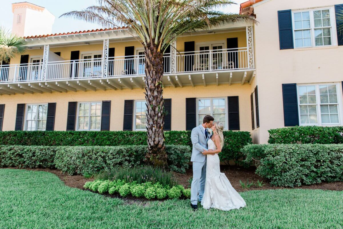 Wedding photos at the Historic Building at The King and Prince Resort