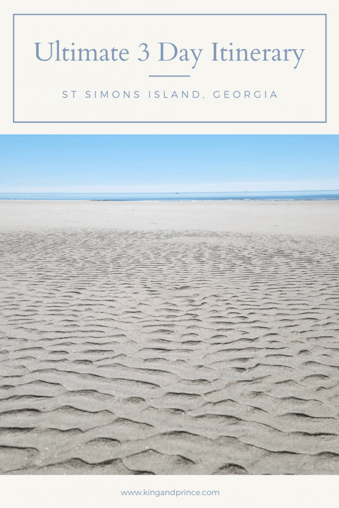 3 Day Itinerary for St. Simons Island